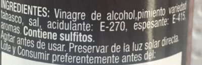 Salsa Picante Extra - Ingredients - es