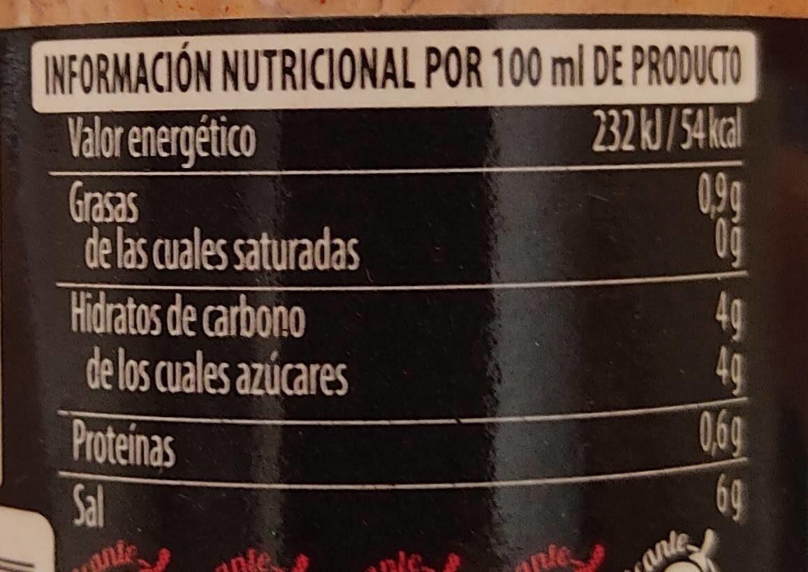 Salsa Picante Extra - Informació nutricional - es