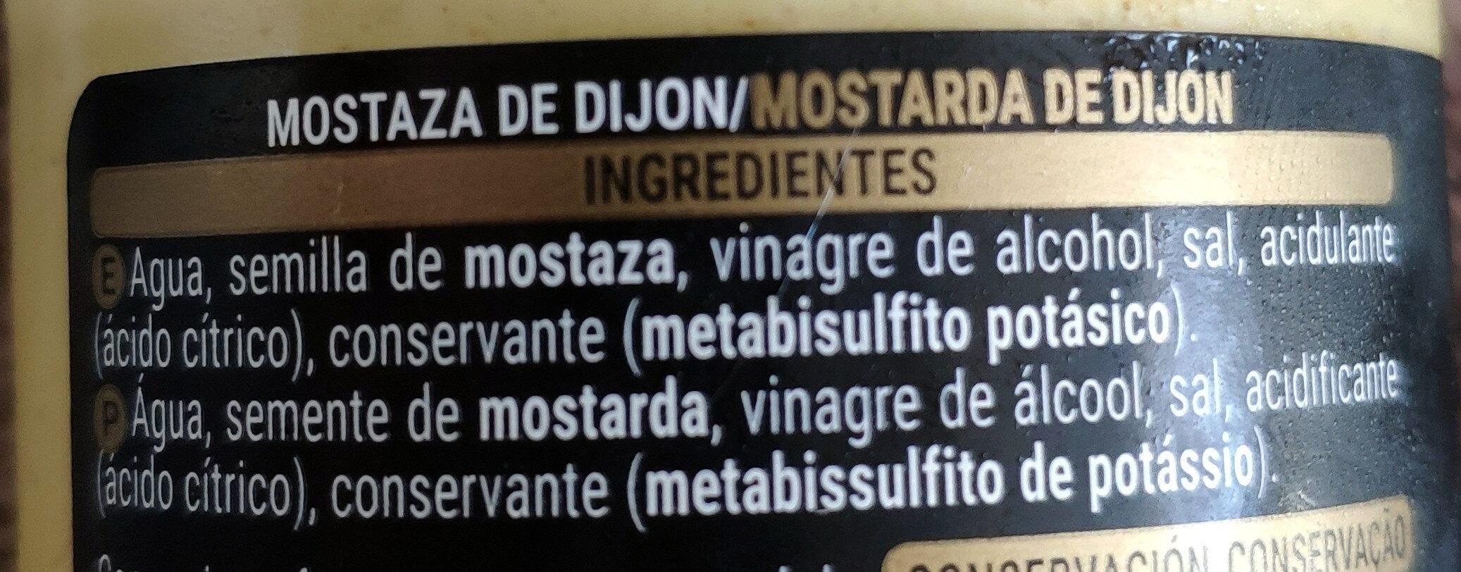 Mostaza dijon - Ingredients - es