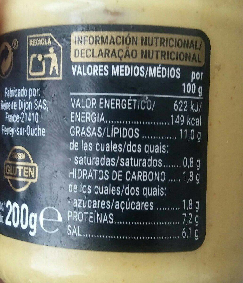 Mostaza dijon - Nutrition facts - es