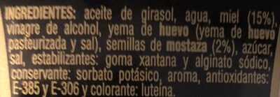 Salsa miel mostaza - Ingredients
