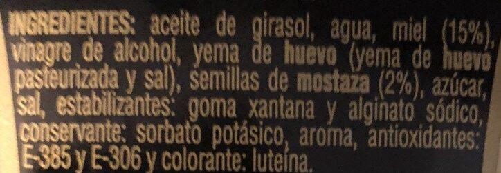 Salsa miel mostaza - Ingredients