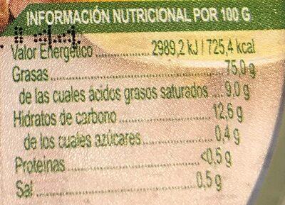 Aliño - Informació nutricional