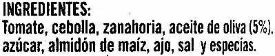 Napolitana - Ingredients - es