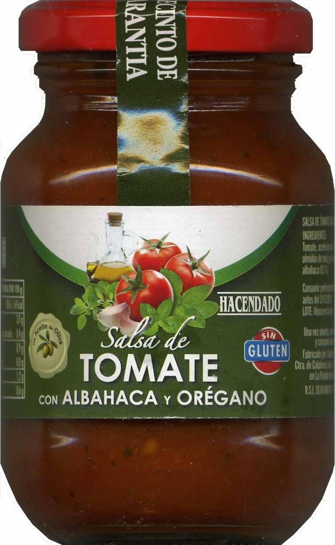 Salsa de tomate con albahaca y orégano - Producto - es