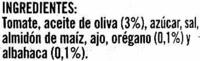 Salsa de tomate con albahaca y orégano - Ingredientes - es