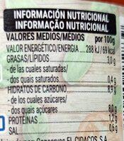 Albahaca y orégano - Nutrition facts - es