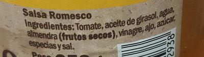 Salsa Romesco Hacendado - Ingredientes - es