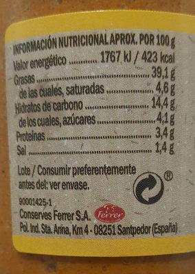 Salsa Romesco Hacendado - Voedingswaarden
