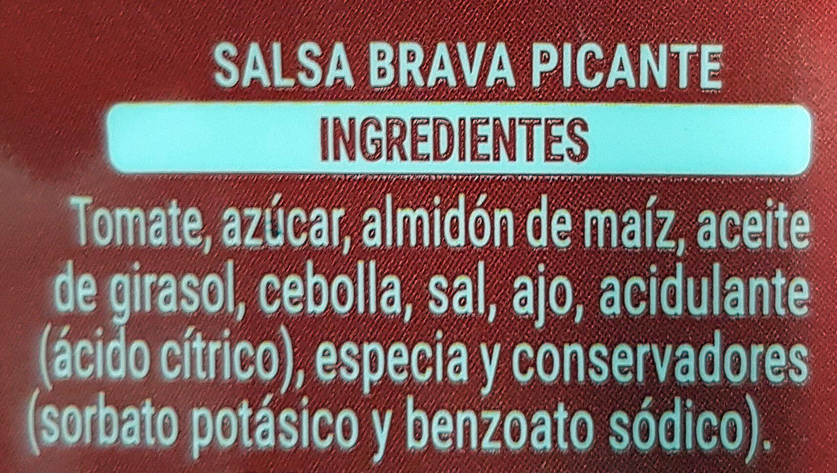 Brava picante - Ingredients - es
