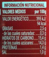 Brava picante - Informació nutricional - es