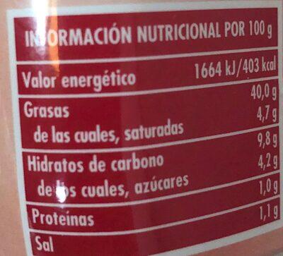 Salsa Cocktail - Voedingswaarden - es