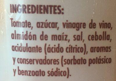 Salsa barbacoa - Ingredientes - es