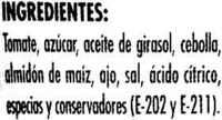 "Salsa brava ""Hacendado"" - Ingredientes"