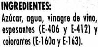 Salsa Agridulce - Ingredients