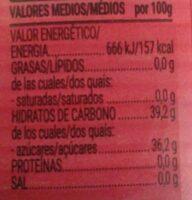 Salsa Agridulce - Informació nutricional - es
