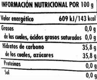 Salsa Agridulce - Informació nutricional