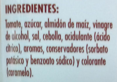Salsa Barbacoa - Ingredientes