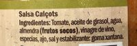 Salsa Calçots - Ingredients