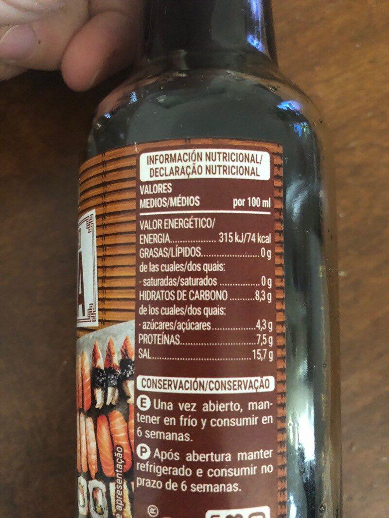 Ingredientes salsa soja