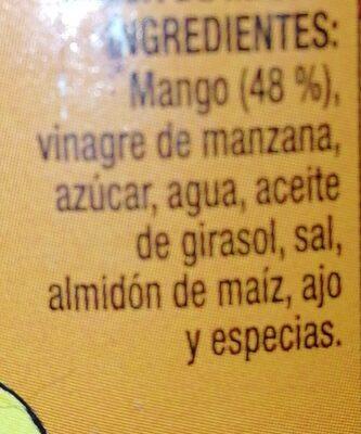 Salsa de mango para dipear - Ingredientes