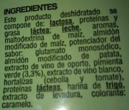Salsa pimienta verde - Ingrédients