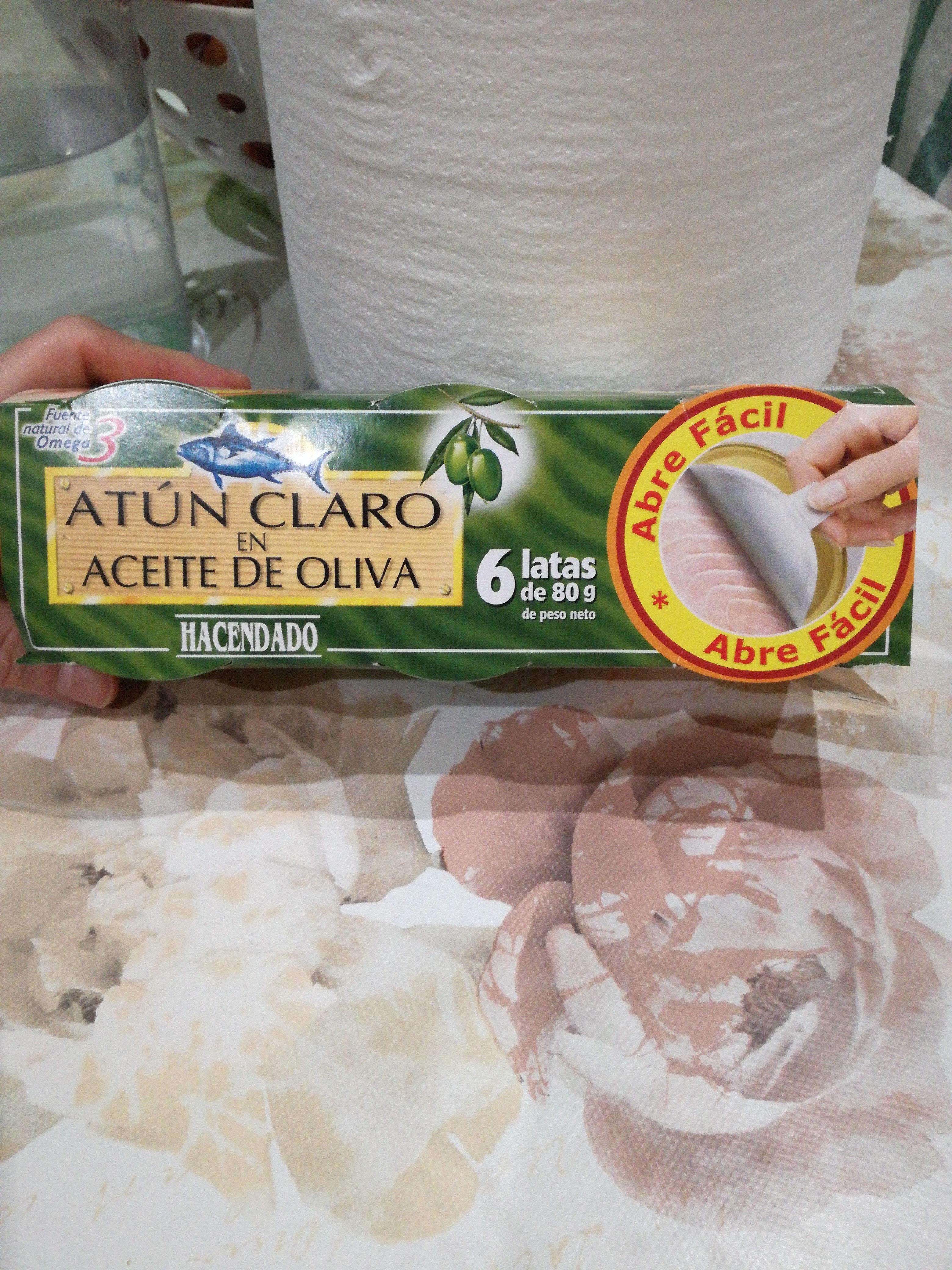 Atun Claro En Aceite De Oliva Hacendado 6 Latas De 80 Gramos