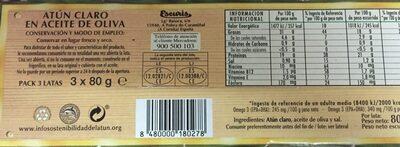 Atun claro aceite oliva - Ingrédients