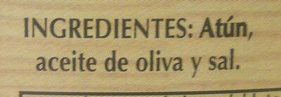 Atún en aceite de oliva - Ingrédients