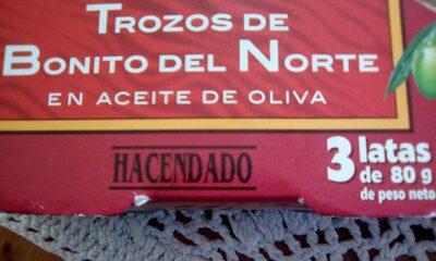 Bonito del norte en aceite de oliva - Produit