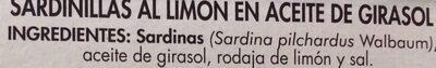 Sardinillas - Ingredients