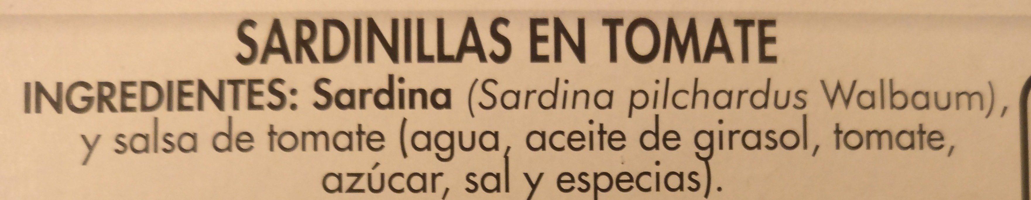 Sardinillas en tomate - Ingredients