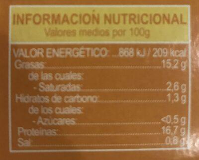 Sardinas en salsa de escabeche - Informació nutricional