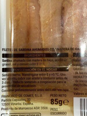 Sardinas ahumadas - Ingredients