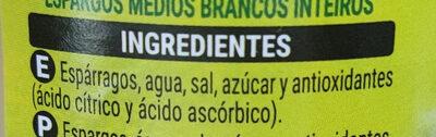 Hacendado Esparragos, Spagel - Ingredientes - es