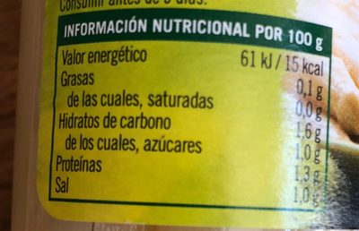 Hacendado Esparragos, Spagel - Información nutricional - fr