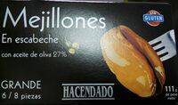 Mejillones en escabeche con aceite de oliva - Producte