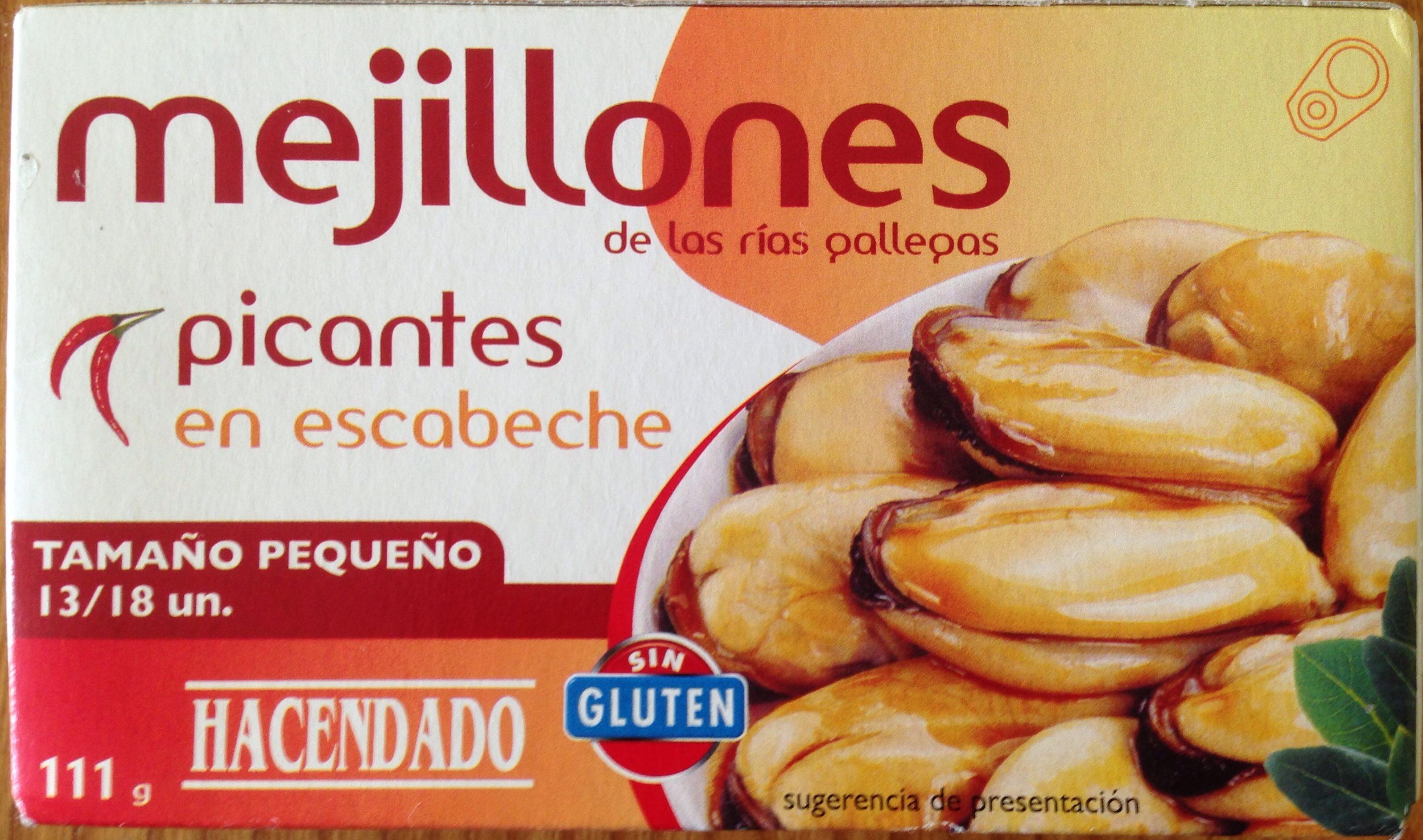 Mejillones de las rías gallegas Picantes en escabeche. - Producto