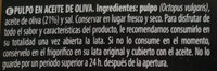 Pulpo en aceite de oliva - Ingredients - es