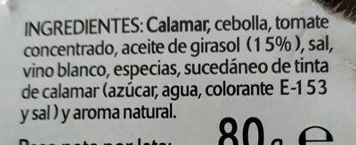 Tacos De Pota Marinera - Ingrédients
