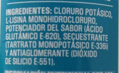 Sal sin sodio 0% - Ingredientes - es
