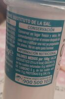Sal 0% sin sodio - Informations nutritionnelles - es