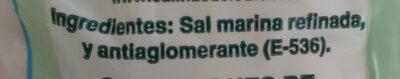 Sal fina - Ingredientes