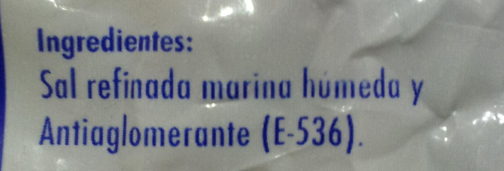 Sal Marina para Hornear - Ingredientes - es