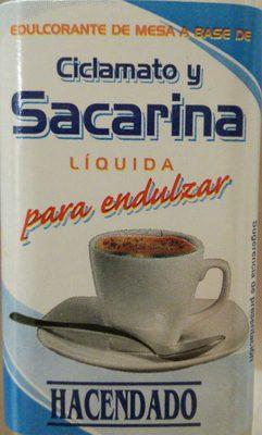 Ciclamato y Sacarina
