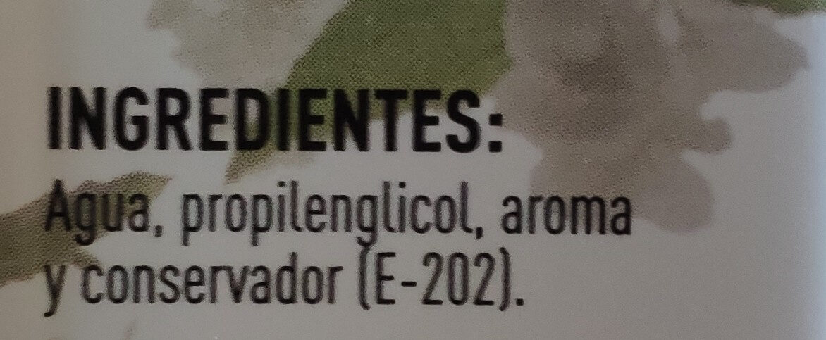 Aroma agua de azahar - Ingredients - es