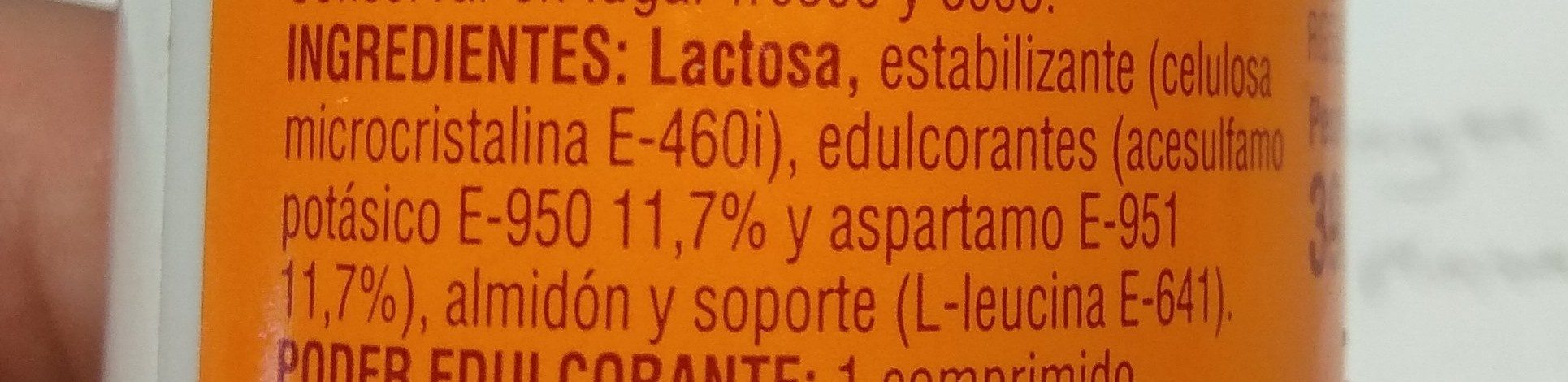 Aspartamo - Ingrédients