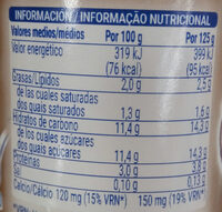 Yogur sabor coco - Nutrition facts - es