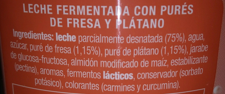Fresa plátano - Ingredientes