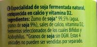 Soja natural - Ingrédients - es